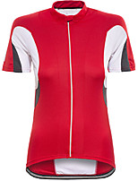 cheap -Women's Short Sleeve Cycling Jersey Red Bike Top Mountain Bike MTB Road Bike Cycling Breathable Quick Dry Sports Clothing Apparel / Stretchy / Athleisure