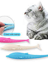 cheap -Teeth Cleaning Toy Toothbrushes Cat Chew Toys Interactive Toy Pets Cat Toy Soft Comfortable Funny Silicone Catnip Gift Pet Toy Pet Play