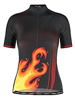 cheap -21Grams Women's Short Sleeve Cycling Jersey Black Bike Top Mountain Bike MTB Road Bike Cycling Breathable Quick Dry Sports Clothing Apparel / Stretchy / Athleisure