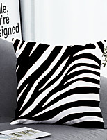 cheap -1 pcs Polyester Pillow Cover & Insert, Striped Color Block Simple Classic Square Zipper Polyester Traditional Classic