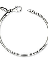 "cheap -Silver Anklet Reflections Lobster Clasp Bead Bracelet 9"" - with Secure Lobster Lock Clasp (2mm)"