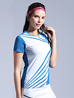 cheap -Women's Tennis Badminton Table Tennis Tee Tshirt Short Sleeve Breathable Quick Dry Moisture Wicking Sports Outdoor Autumn / Fall Spring Summer Black Blue Green / High Elasticity