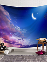 cheap -wall tapestry art decor blanket curtain hanging home bedroom living room decoration little crescent moon purple clouds polyester