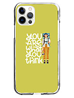 cheap -phrase case for apple iphone 12 11 se2020 unique design you are what you think protective case shockproof tpu instagram style case for iphone 12 pro max xr xs max iphone 8 plus 7