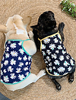 cheap -Dog Cat Shirt / T-Shirt Daisy Sweet Style Adorable Casual / Daily Dog Clothes Puppy Clothes Dog Outfits Breathable Black Blue Costume for Girl and Boy Dog Cotton S M L XL XXL