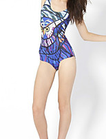 cheap -Women's New Fashion Lady Monokini Swimsuit Animal Tummy Control Open Back Slim Bodysuit Normal Strap Swimwear Bathing Suits Blue / One Piece / Party / Print
