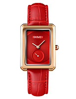 cheap -SKMEI Women's Quartz Watches Quartz Minimalist Cute Analog White Black Red / One Year / Genuine Leather