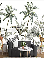 cheap -Animal Forest Wallpaper Self-Adhesive Removable Peel and Stick Wallpaper Decorative Wall Covering for Wall Surface Cover Easy to Apply