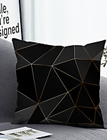 cheap -1 pcs Polyester Pillow Cover & Insert, Geometric Simple Classic Square Zipper Polyester Traditional Classic