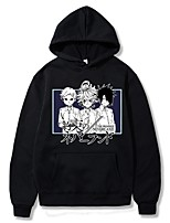 cheap -Inspired by The Promised Neverland Emma Cosplay Costume Hoodie Polyester / Cotton Blend Graphic Prints Printing Hoodie For Men's / Women's