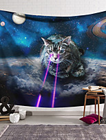 cheap -Wall Tapestry Art Decor Blanket Curtain Hanging Home Bedroom Living Room Decoration Polyester Laser on Cat Eyes