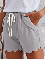cheap -Women's Sporty Breathable Comfort Outdoor Daily Chinos Shorts Pants Solid Colored Plain Knee Length Drawstring Green Beige Gray