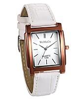 cheap -Women Wrist Watches Fashion Square Dial Analog Quartz Watch PU Leather Band Dress Watch Bracelet Watches