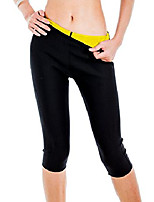 cheap -Womens Slimming Pants Hot Thermo Neoprene Sweat Sauna Body Shapers (BLACK AND RED)