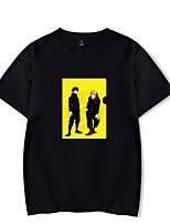 cheap -Inspired by Jujutsu Kaisen Yuji Itadori Cosplay Costume T-shirt Microfiber Graphic Prints Printing T-shirt For Men's / Women's