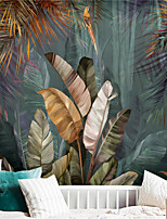 cheap -Tropical Leaf Wallpaper Self-Adhesive Removable Peel and Stick Wallpaper Decorative Wall Covering for Wall Surface Cover Easy to Apply