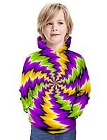 cheap -Kids Boys' Hoodie & Sweatshirt Graphic 3D Print Long Sleeve Active Purple