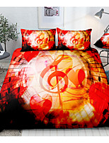 cheap -Note Print 3-Piece Duvet Cover Set Hotel Bedding Sets Comforter Cover with Soft Lightweight Microfiber, Include 1 Duvet Cover, 2 Pillowcases for Double/Queen/King(1 Pillowcase for Twin/Single)