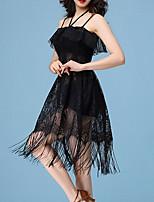 cheap -Latin Dance Dress Lace Tassel Women's Performance Daily Wear Sleeveless Spandex