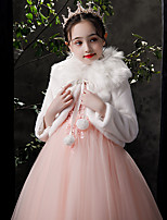 cheap -Long Sleeve Cute / Sweet POLY Party / Evening / Birthday Shawl & Wrap / Kids' Wraps With Satin Bow / Solid / Fur