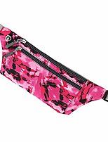 cheap -men's waist pack women's fanny packs belt bags super light weight adjustable for running hiking camping (rose red)