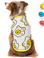 cheap -Dog Shirt / T-Shirt Egg Cartoon Funny Cute Casual / Daily Dog Clothes Puppy Clothes Dog Outfits Breathable White Red Blue Costume for Girl and Boy Dog Polyster S M L XL