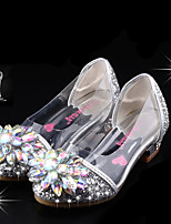 cheap -Girls' Heels Princess Shoes PU Little Kids(4-7ys) Big Kids(7years +) Party & Evening Walking Shoes Pink Silver Spring Summer