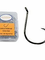 cheap -Kunsilane 50PCS Circle Fishing Hooks Saltwater Big Size 8/0, Offset Sport High Carbon Steel Octopus Fishing Hooks Extra Strong