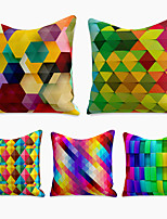 cheap -cushion cover 5pc linen soft decorative square throw pillow cover cushion case pillowcase for sofa bedroom 45 x 45 cm (18 x 18 inch) superior quality machine washable color