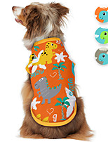 cheap -Dog Shirt / T-Shirt Dinosaur Animal Cartoon Funny Cute Casual / Daily Dog Clothes Puppy Clothes Dog Outfits Breathable Blue Orange Gray Costume for Girl and Boy Dog Polyster S M L XL