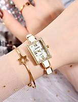 cheap -Women's Quartz Watches Quartz Stylish Fashion Cute Analog Golden+Black Golden+White White+Gold / One Year