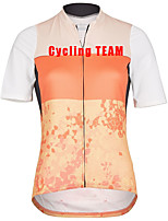 cheap -Women's Short Sleeve Cycling Jersey Orange Bike Top Mountain Bike MTB Road Bike Cycling Breathable Quick Dry Sports Clothing Apparel / Stretchy / Athleisure