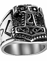 cheap -Stainless Steel Ring Norse Mythology Legendary God War Weapon,Quake Ring for Biker Silver Tone Black,Size 12