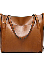 cheap -women oil wax leather large handbag shoulder girl travel bag messenger tote
