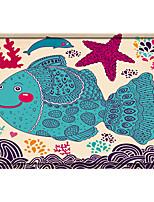 cheap -Color Painting Fish Print Memory Foam Bath Mat Non Slip Absorbent Bathroom Mat Super Soft Microfiber Bath Mat Set Super Cozy Velvety Bathroom Rug Carpet