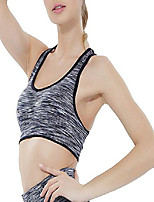 cheap -Women Yoga Running Vest Quick Dry Racer Back Sports Bra Black XL
