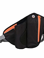 cheap -Portable Waist Bag Outdoor Travel Hiking Cycling Fanny Pack with Phone Water Bottle Holder Lightweight Pouch - Black