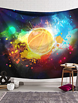 cheap -wall tapestry art decor blanket curtain hanging home bedroom living room decoration basketball flame polyester