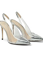 cheap -Women's Wedding Shoes Stiletto Heel Pointed Toe Wedding Daily PU Synthetics Silver