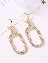 cheap -Women's Cubic Zirconia Drop Earrings Classic Diamond Stylish Earrings Jewelry Gold For Party Evening Gift Date Festival 1 Pair
