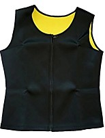 cheap -Men's Zipper Body Shaper Workout Tank Top Slimming Neoprene Vest for Weight Loss Tummy Fat, Black 2, US L = Tag XL
