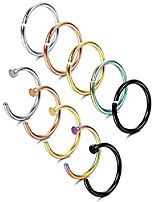cheap -20g stainless steel nose rings hoop body jewelry nose piercing 10mm