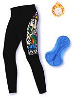 cheap -21Grams Men's Cycling Pants Winter Fleece Spandex Bike Pants / Trousers Leg Warmers / Knee Warmers Leggings Fleece Lining Warm Sports Black Mountain Bike MTB Road Bike Cycling Clothing Apparel Bike