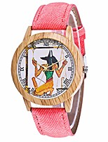 cheap -Women's Canvas Leather Strap Watch Girls Fashion Beautiful Casual Luxury Wooden(Pink)