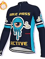 cheap -21Grams Men's Long Sleeve Cycling Jacket Winter Fleece Spandex Black Bike Jacket Mountain Bike MTB Road Bike Cycling Fleece Lining Warm Sports Clothing Apparel / Stretchy / Athleisure