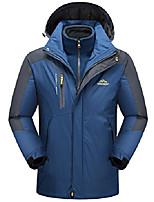 cheap -Mens Mountain 3 In 1 Waterproof Insulated Ski Snow Interchange Jacket Rain Coat