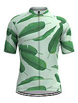 cheap -Men's Short Sleeve Cycling Jersey Green Bike Top Mountain Bike MTB Road Bike Cycling Breathable Sports Clothing Apparel / Stretchy / Athletic