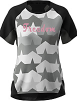 cheap -Women's Short Sleeve Downhill Jersey Grey Bike Top Mountain Bike MTB Road Bike Cycling Breathable Quick Dry Sports Clothing Apparel / Stretchy / Athleisure