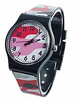 cheap -ByedogCamouflage Children Watch Quartz Wristwatch for Girls Boy (Red)