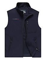 cheap -Men's Hiking Vest / Gilet Outdoor Lightweight UV Sun Protection Breathable Quick Dry Jacket Top Fishing Climbing Camping / Hiking / Caving MJ1906 Army Green MJ1906 Khaki MJ1906 dark blue MJ1906 black